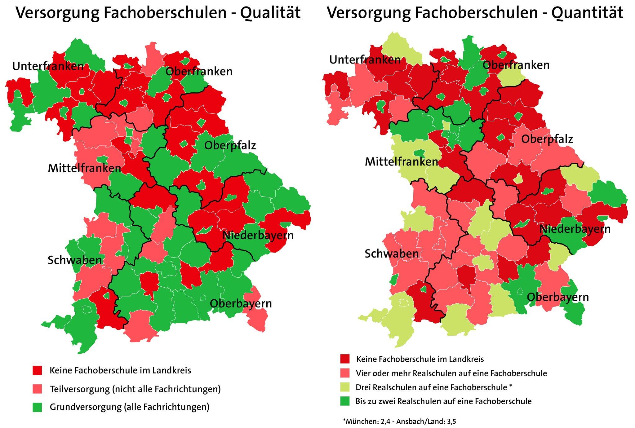 Karte Oberfranken Unterfranken Mittelfranken.Martina Fehlner Bayern Braucht Mehr Fachoberschulen Grosse