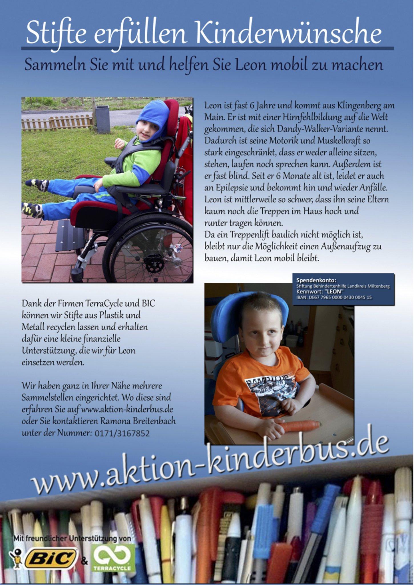 Aktion Kinderbus - Stifte erfüllen Kinderwünsche - Buchen (Odenwald)