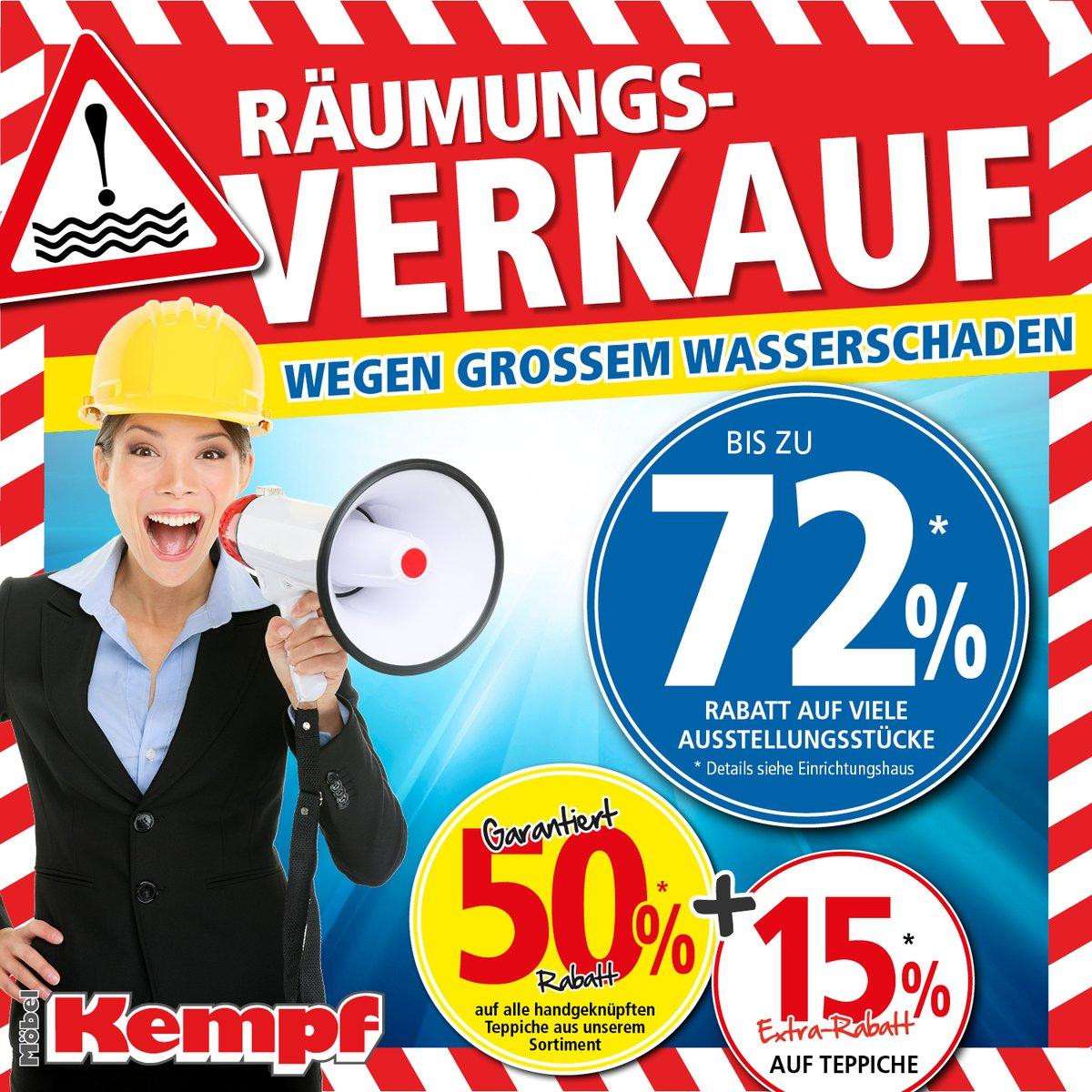 Riesiger Räumungsverkauf Mit Bis Zu 72 Rabatt Bei Möbel Kempf In