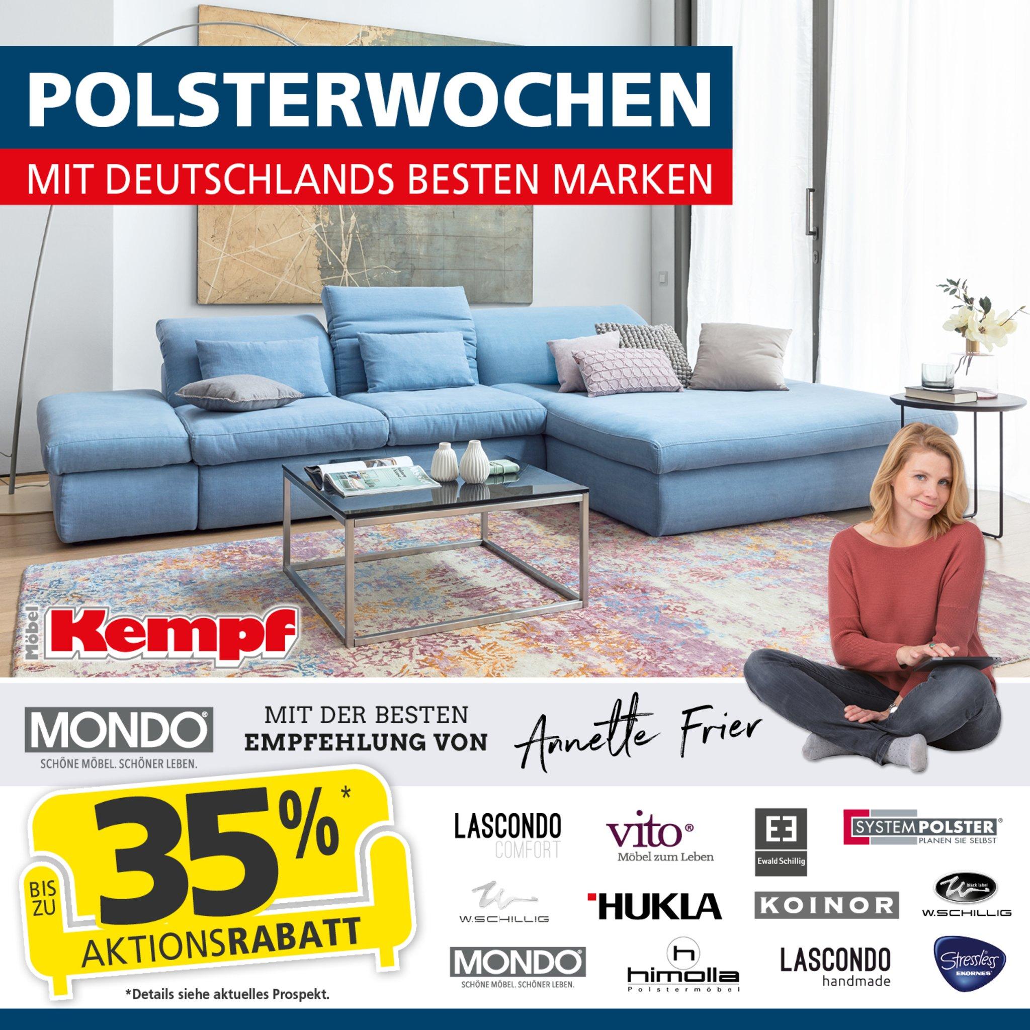 riesiger polster wochen sonderverkauf mit deutschlands besten marken bei m bel kempf aschaffenburg. Black Bedroom Furniture Sets. Home Design Ideas