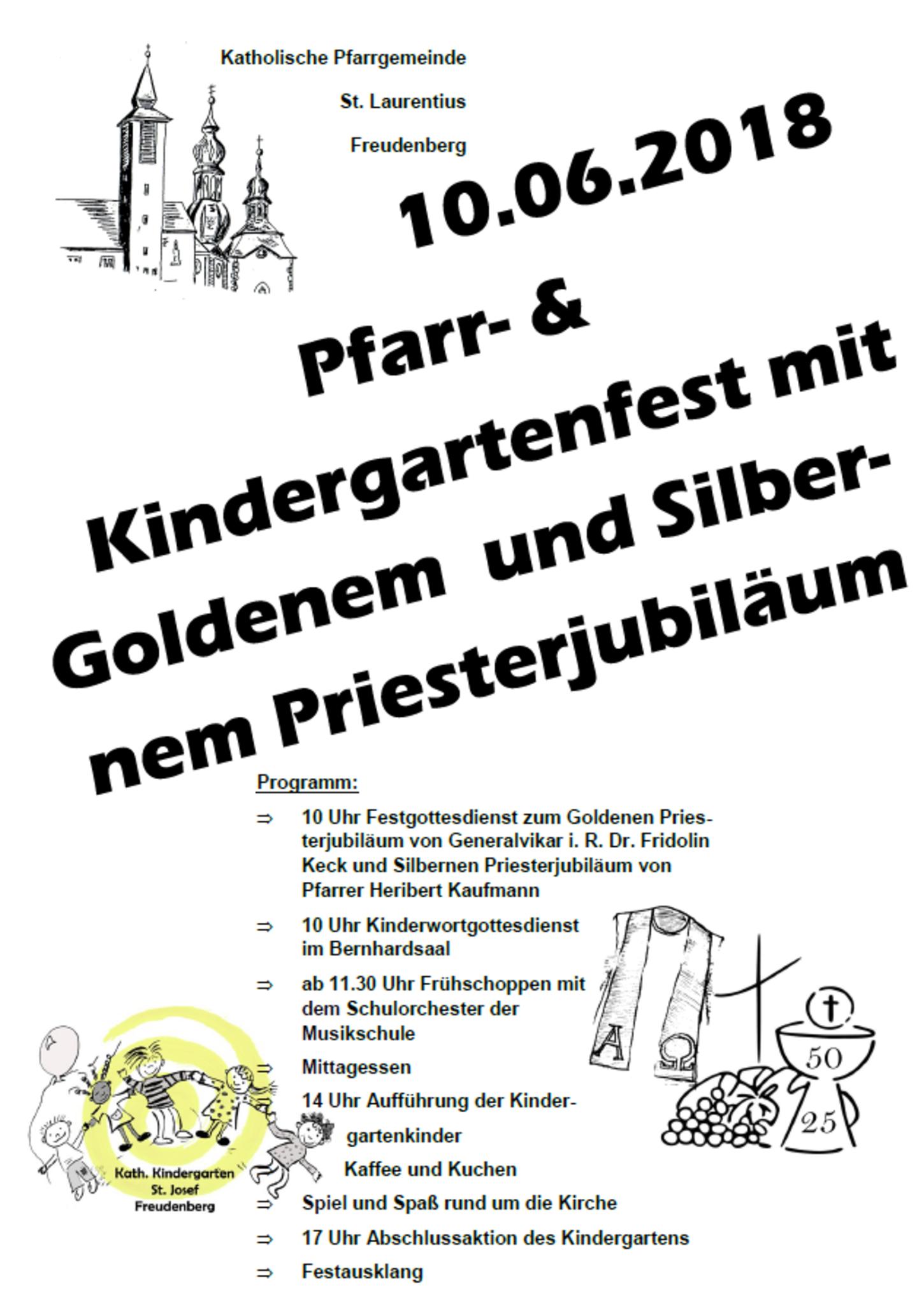 Pfarr- und Kindergartenfest mit Priesterjubiläen - Freudenberg